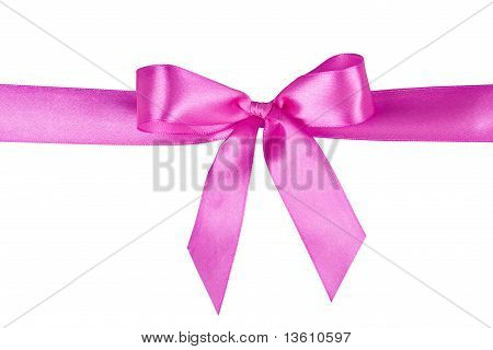 Bow On A White Background