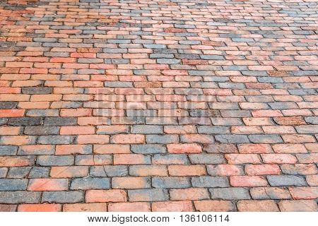 Brick Street Sidewalk