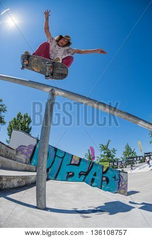 Pedro Fangueiro During The Dc Skate Challenge