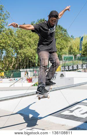 Joao Santos During The Dc Skate Challenge
