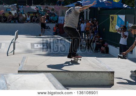 Nuno Cardoso During The Dc Skate Challenge