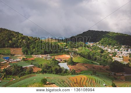 Mountain scape in Mon Cham, Chiang Mai, Thailand