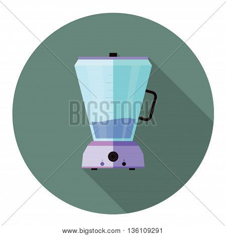 Blender illustration, food mixer Flat style with long shadow