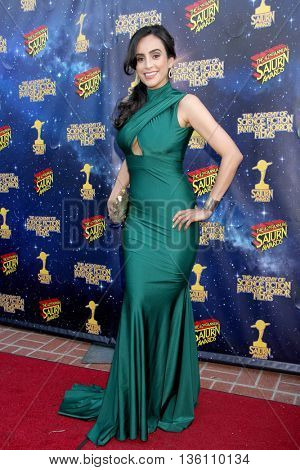 Valerie Perez arrives at the 42nd Annual Saturn Awards on Wednesday, June 22, 2016 at the Castaway Restaurant in Burbank, CA.