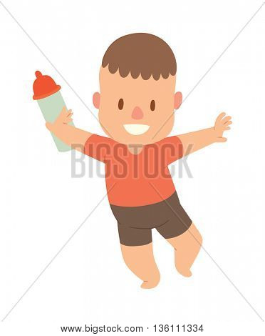 Baby kid vector illustration