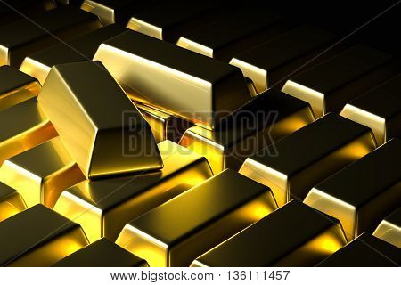 Gold Bar Bullion Background
