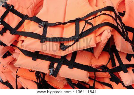 close up image of Life vest background