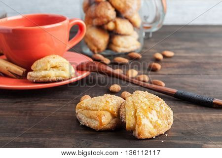 Sweet Cottage Cheese Cookies Closeup