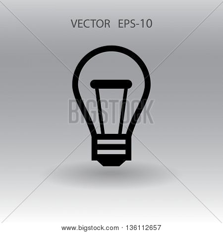 Flat icon of idea
