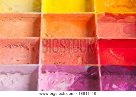 shade color on the palette
