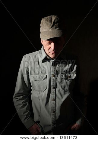 Military Man With Hands In Pocket