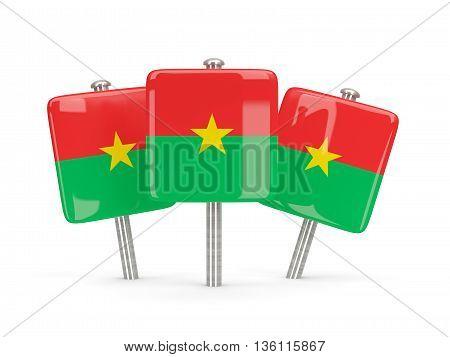 Flag Of Burkina Faso, Three Square Pins