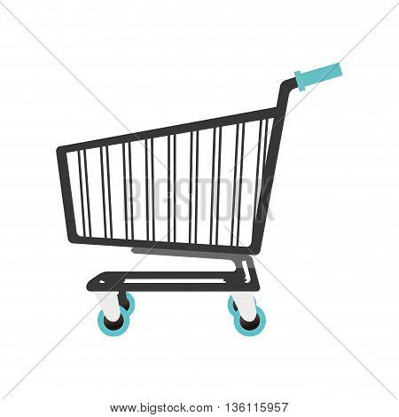 simple flat design shopping Cart icon vector illustration