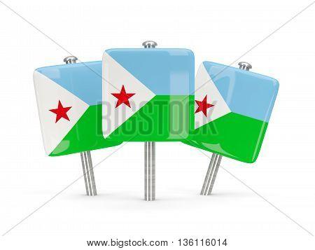 Flag Of Djibouti, Three Square Pins