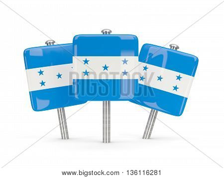 Flag Of Honduras, Three Square Pins