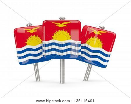 Flag Of Kiribati, Three Square Pins
