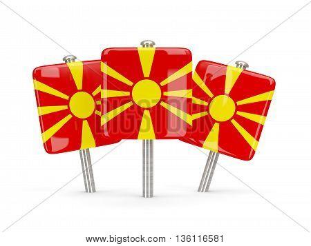 Flag Of Macedonia, Three Square Pins