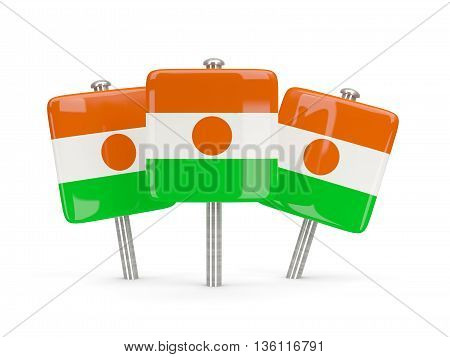 Flag Of Niger, Three Square Pins