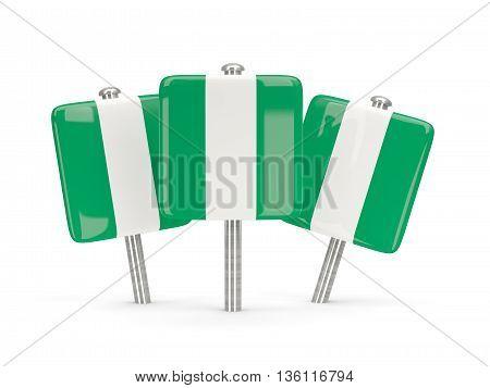 Flag Of Nigeria, Three Square Pins