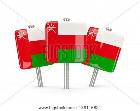 Flag Of Oman, Three Square Pins