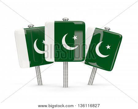 Flag Of Pakistan, Three Square Pins