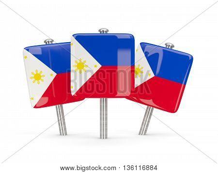 Flag Of Philippines, Three Square Pins