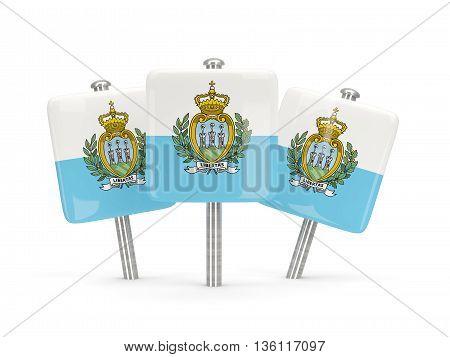 Flag Of San Marino, Three Square Pins