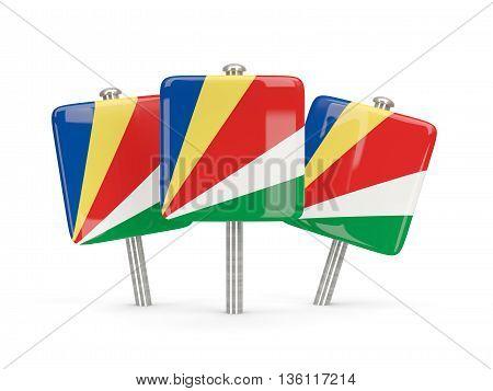 Flag Of Seychelles, Three Square Pins