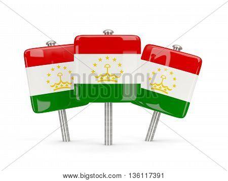Flag Of Tajikistan, Three Square Pins