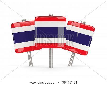 Flag Of Thailand, Three Square Pins