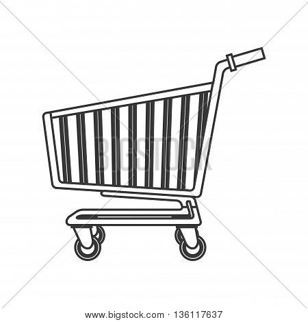 simple black line shopping Cart icon vector illustration