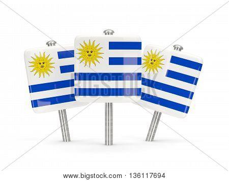 Flag Of Uruguay, Three Square Pins