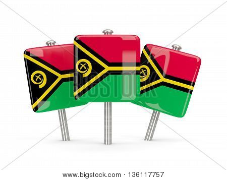 Flag Of Vanuatu, Three Square Pins