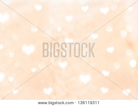 Abstract Heart bokeh backgrounduse as love background