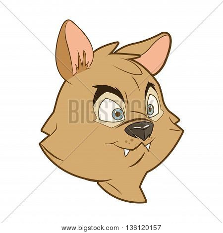 flat design face of squirrel cartoon vector illustration