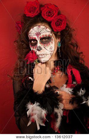 Dia De Los Muertos With Roses