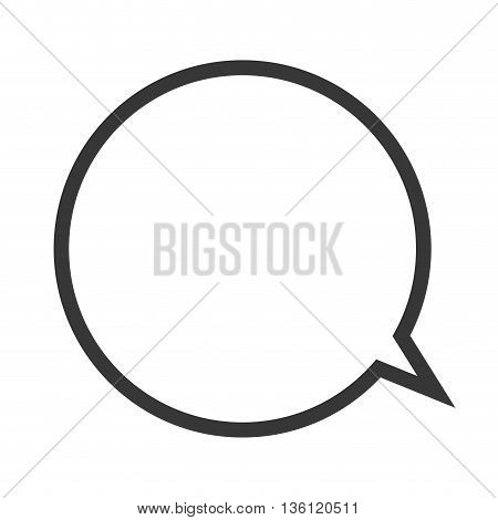 simple flat design conversation bubble outline icon vector illustration