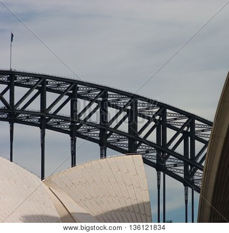 The arch of the Sydney Harbour Bridge