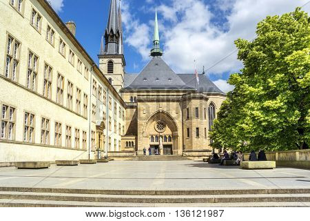 Notre-Dame Cathedral  in Luxembourg. Europe.