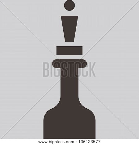 Silhouette of a chess piece - chess queen icon