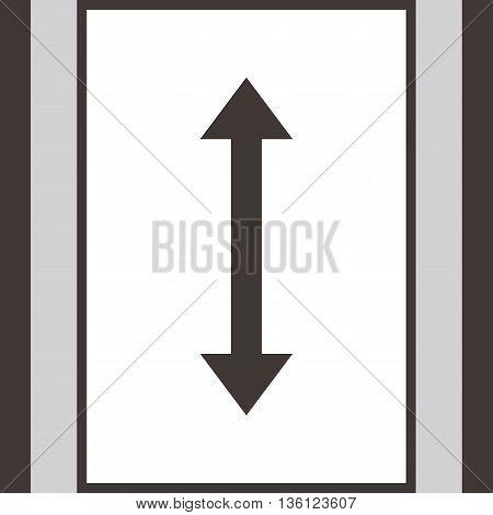 Elevator - up - down icon with arow simbols