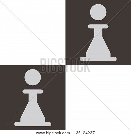Silhouette of a chess piece - chess board with pawn icon