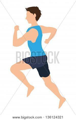 flat design man running icon vector illustration