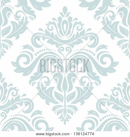 Oriental classic light blue ornament. Seamless abstract background