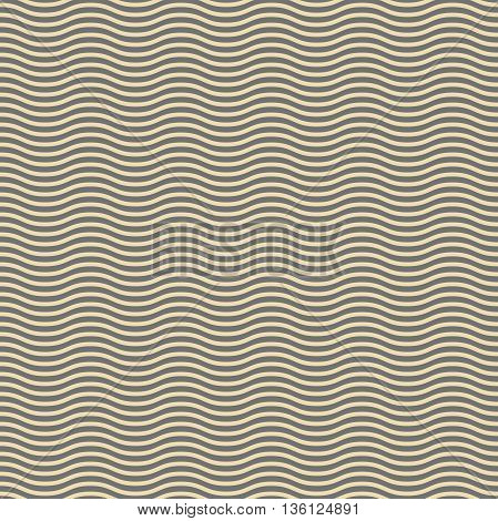 Seamless ornament. Modern geometric pattern with repeating golden wavy lines