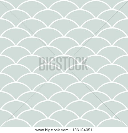 Seamless light blue and white ornament. Modern geometric pattern with repeating elements
