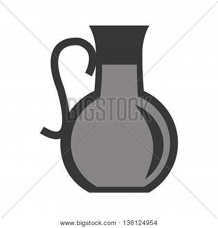 grey simple flat design pitcher with liquid icon