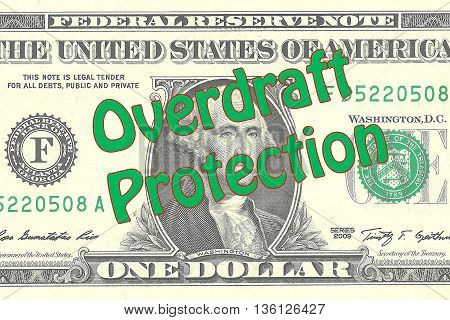 Overdraft Protection Business Concept
