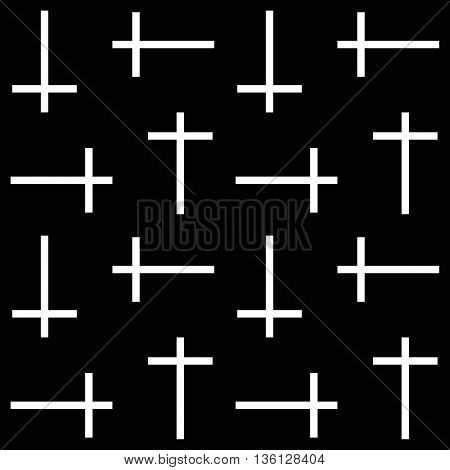 Vector seamless background. Background with cross. Religion