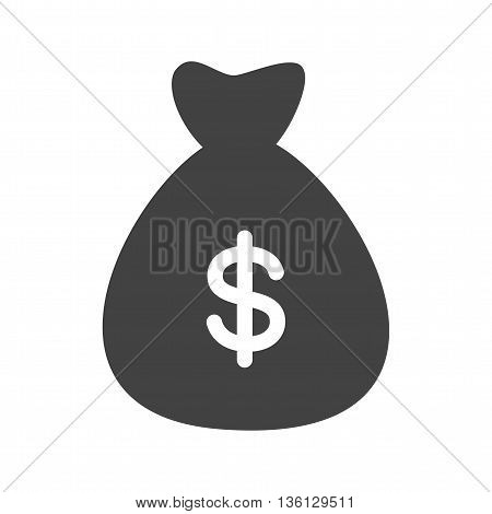 Money, bag, dollar icon vector image.Can also be used for shopping. Suitable for mobile apps, web apps and print media.